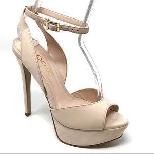 ALDO Perelli sandals 7 beige nude ankle strap heel